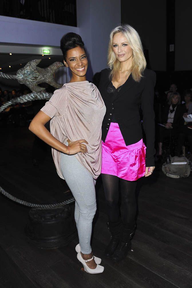 Photos   Fashion Week Paris   Shy m et Adriana Karembeu   duo chic et choc ! 138e2a9e90a7