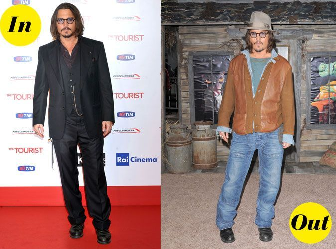looks de johnny depp un style entre grunge et vintage pas toujours au top. Black Bedroom Furniture Sets. Home Design Ideas