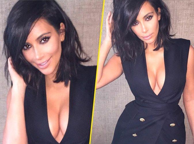 kim kardashian canon avec son carr flou et regard de biche. Black Bedroom Furniture Sets. Home Design Ideas