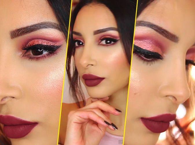 Maquillage  Sananas  On adopte le rose et les paillettes