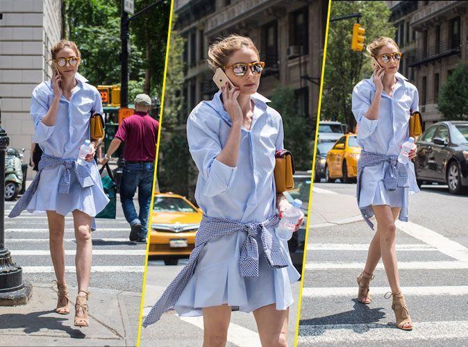 38d5c7b7a4e Olivia Palermo voit la vie en bleu !