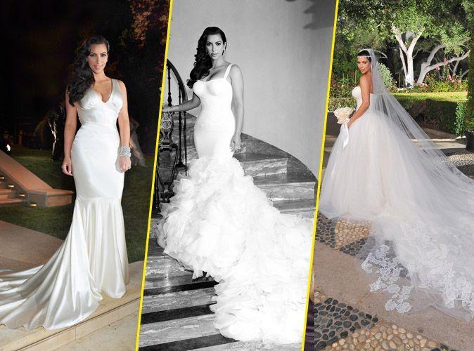Mode Kim Kardashian Sa Robe De Mariee Kanye West S En