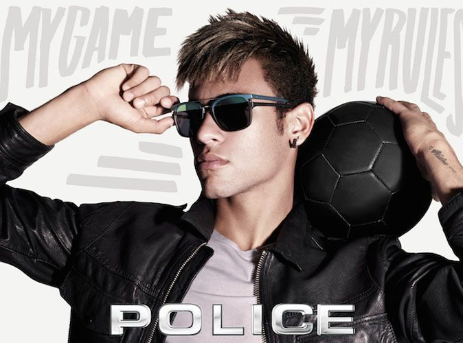 mode neymar le joueur de foot br silien g rie des lunettes de soleil police. Black Bedroom Furniture Sets. Home Design Ideas