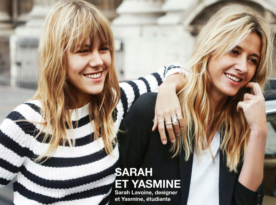 Mode photos sarah et yasmine lavoine m re et fille - Comptoir des cotonniers mere et fille ...