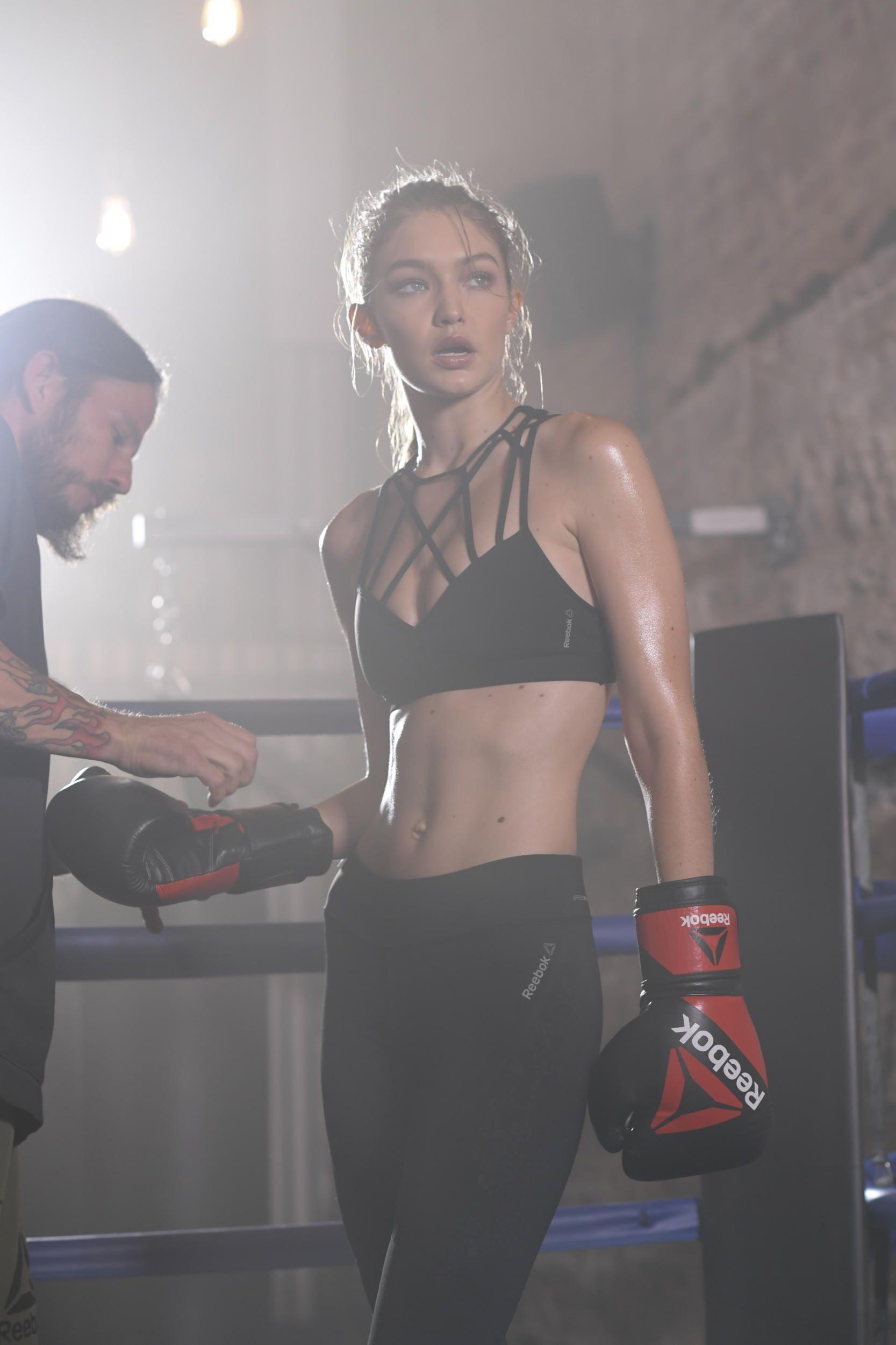 Boxeuse Sexy photos : gigi hadid : boxeuse sexy et déterminée pour reebok