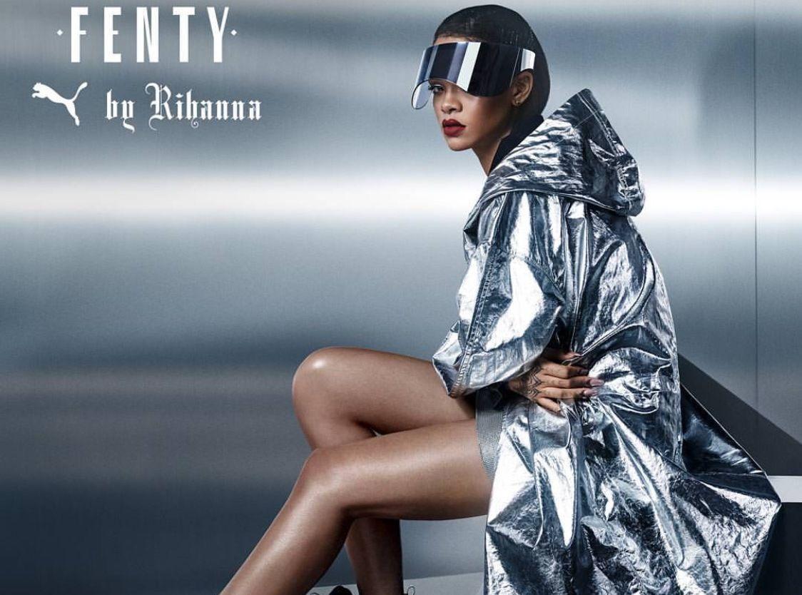 8b158668a51797 Rihanna   sexy et futuriste pour Fenty by Puma