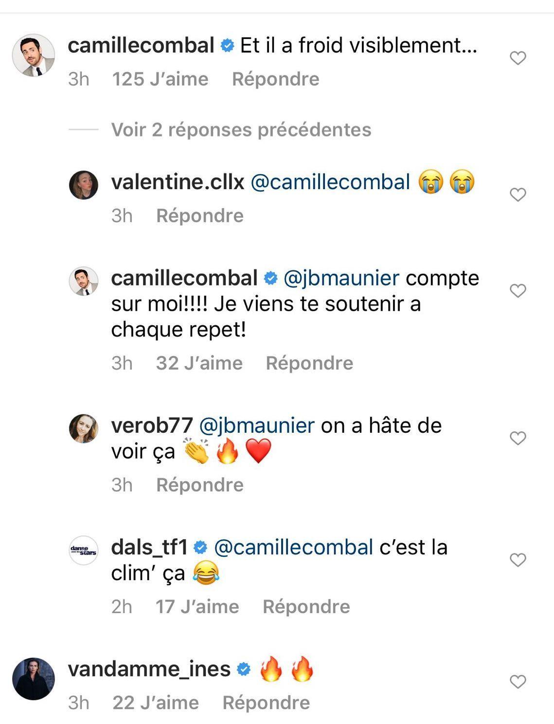 Camille Combal se moque de Jean-Baptiste Maunier
