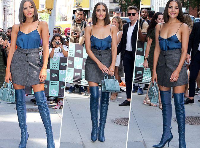super populaire 8310d b442a Olivia Culpo : Mini-jupe et cuissardes sans être vulgaire ...
