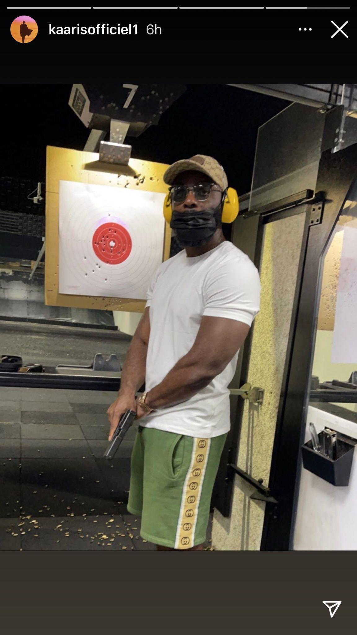 Kaaris armé sur Instagram