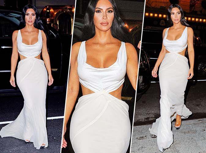 Kim Kardashian Robe Longue Blanche Ultra Sexy On Copie Son Look De Soiree En Moins Cher