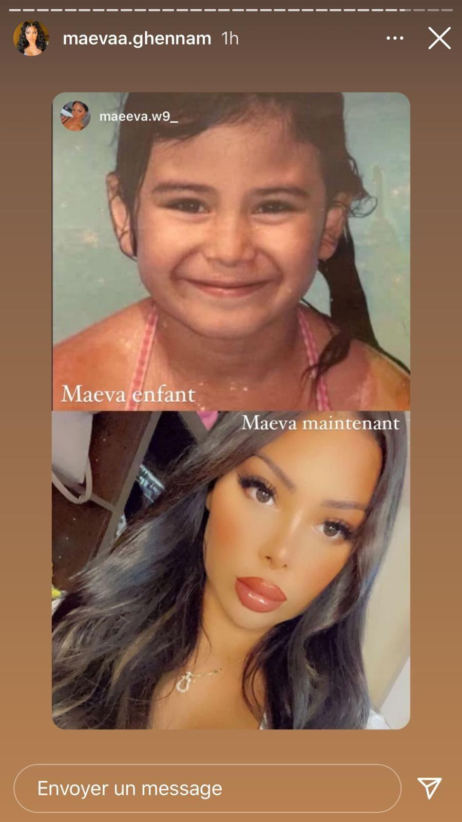Maeva Ghennam enfant