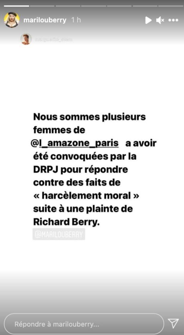 Marilou Berry évoque l'affaire Richard Berry dans sa story Instagram