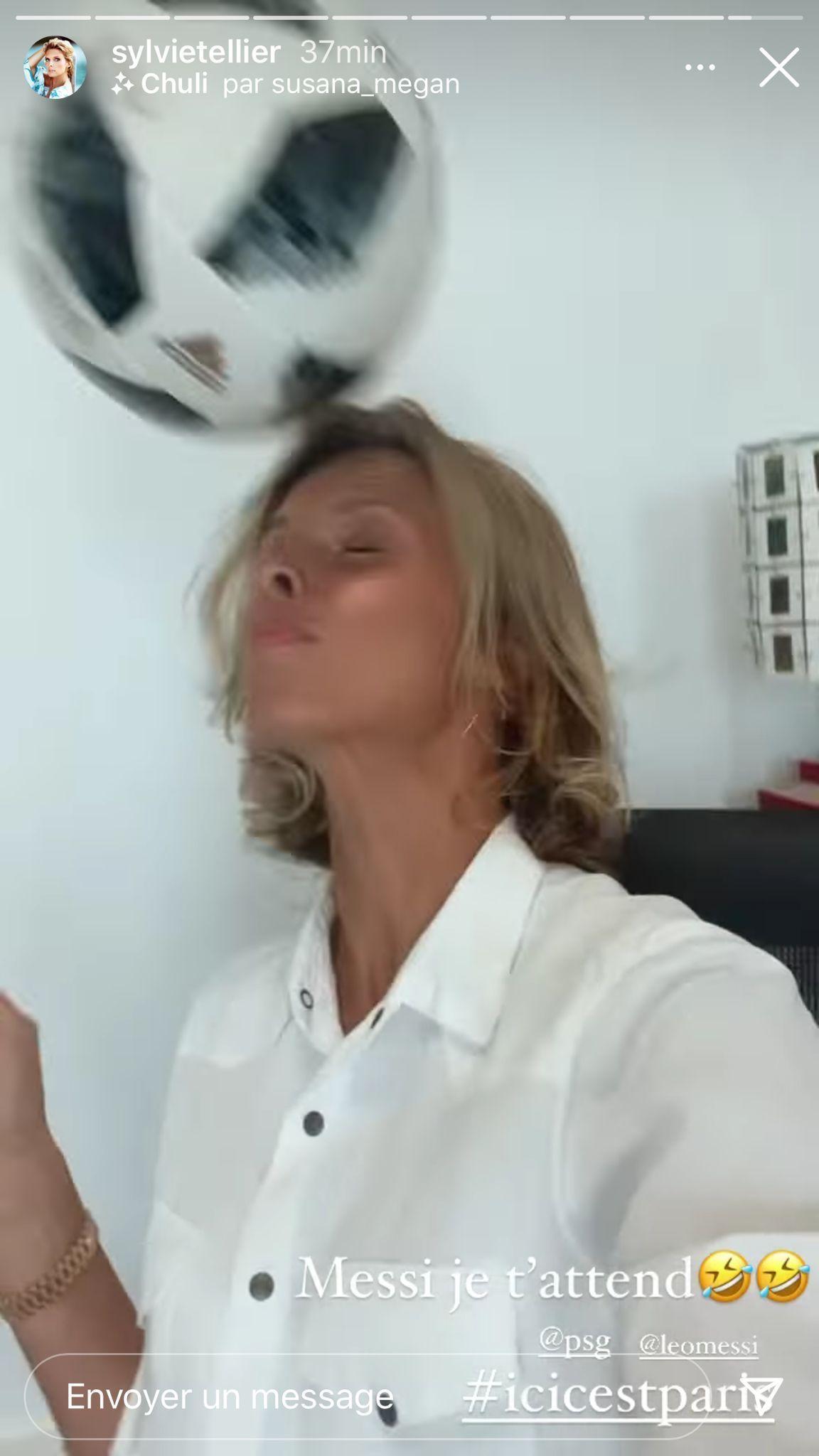 Sylvie Tellier lance un défi à Lionel Messi
