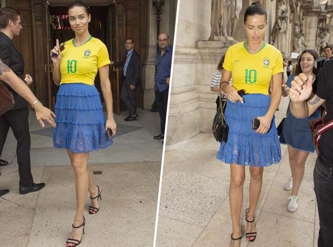 Adriana Lima : Qui valide son look de supportrice ?