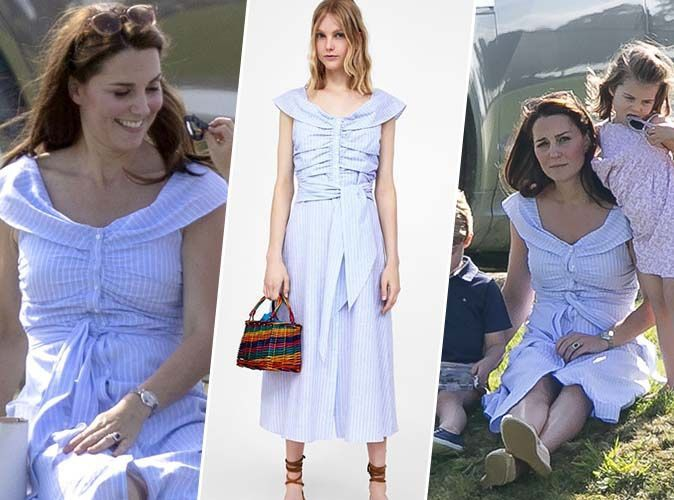 ALERTE : La robe Zara bleu ciel de Kate Middleton est toujours disponible !