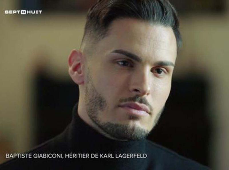 Baptiste Giabiconi amant et héritier de Karl Lagarfeld ? Il dit enfint tout dans Sept à Huit (TF1)