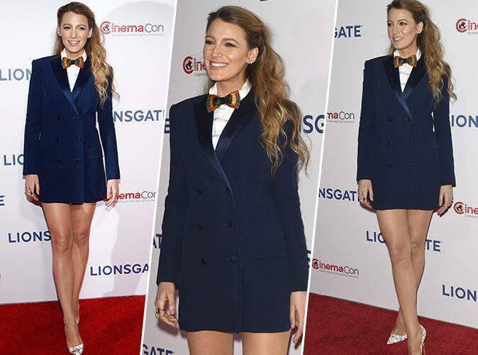 Blake Lively : Sublime en blazer-robe, elle dévoile ses jambes interminables