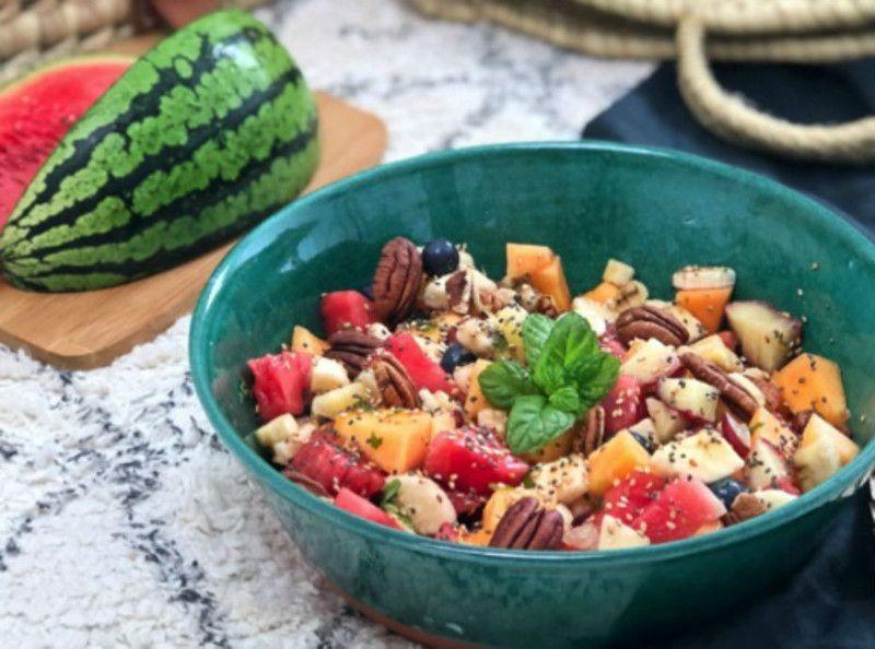 Food : Apéro sucré #5 : la salade de melon, pastèque et menthe