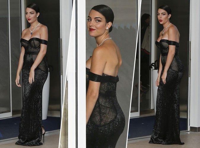 Georgina Rodríguez ultra sexy dans une robe noire à Cannes... Cristiano Ronaldo ne va pas être content !