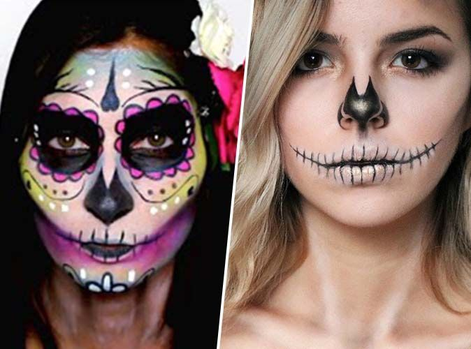 Halloween 2018 Calavera Glamour Vs Halloween Skull Voici 5 Tutos