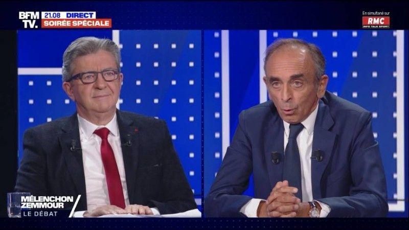 «Ignorant», «agressif», «tête de victime» : Passe d'armes entre Jean-Luc Melenchon et Éric Zemmour lors du débat très attendu !