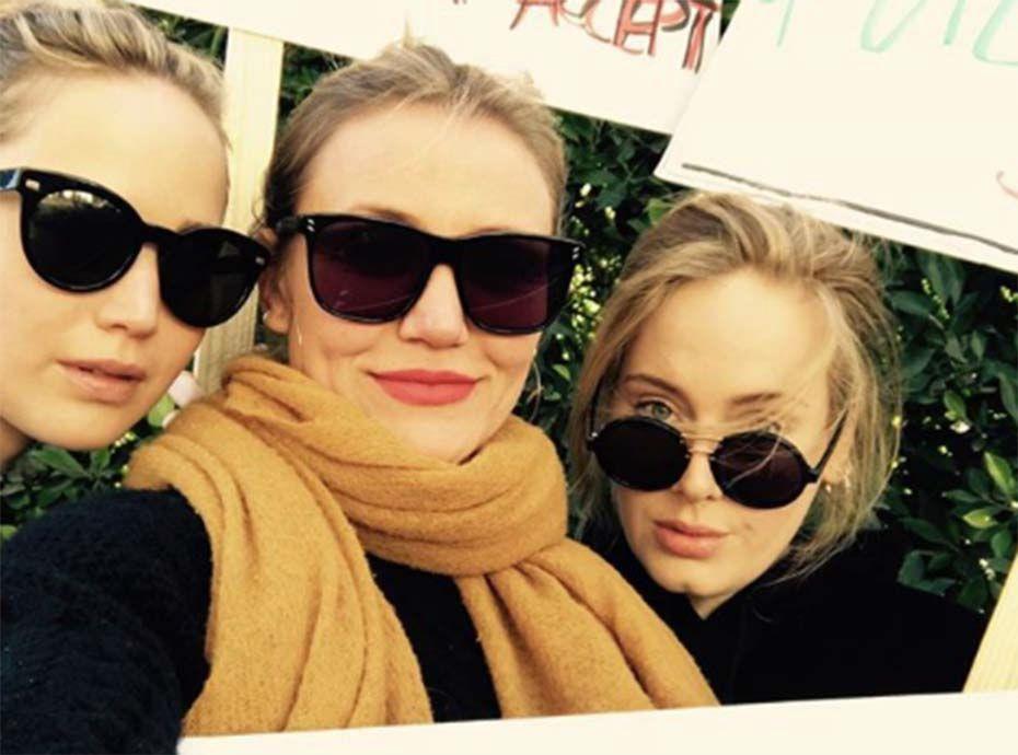 Jennifer Lawrence, Cameron Diaz et Adele : le selfie inattendu qui ravit les internautes
