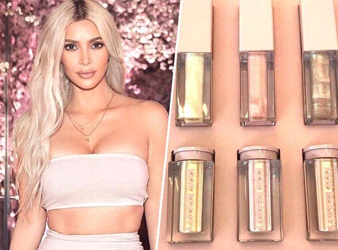 Kim Kardashian tease de nouveaux highlighters et rouges à lèvres brillants pour KKW Beauty !