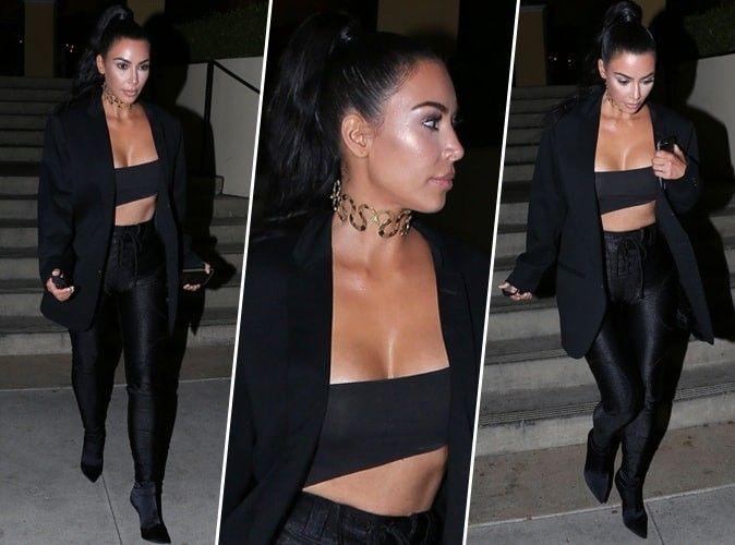 Kim Kardashian : ultra sexy dans un total look noir... Qui valide ?