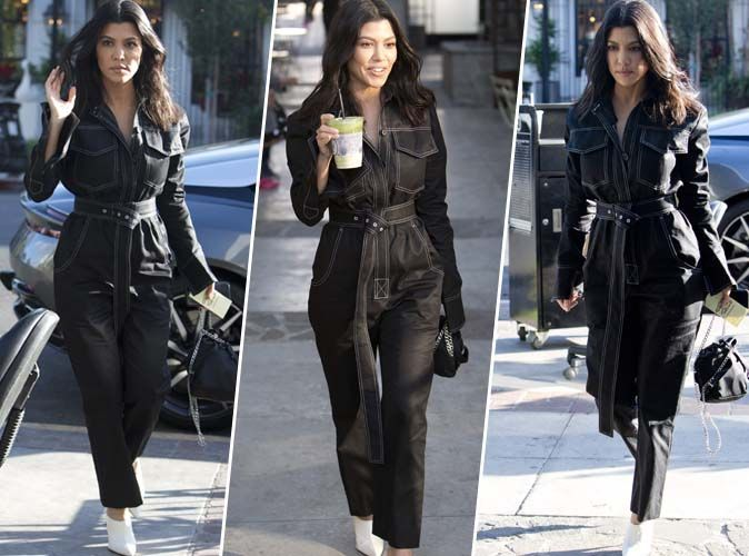 Kourtney Kardashian : Combinaison + mules à talons = combo parfait !