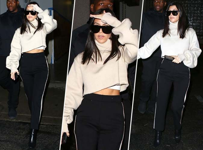 Kourtney Kardashian : on craque pour son look casual avant les fêtes