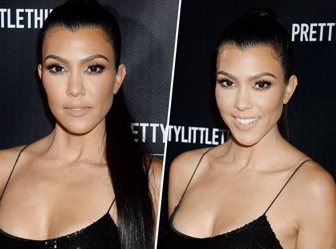 Kourtney Kardashian : On craque pour son make-up nude et glitter !