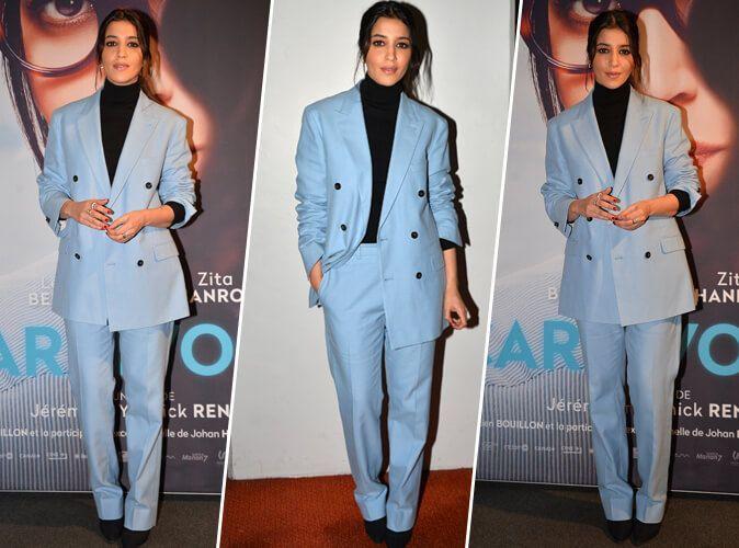 Leila Bekhti : A son tour, elle craque pour le tailleur coloré !