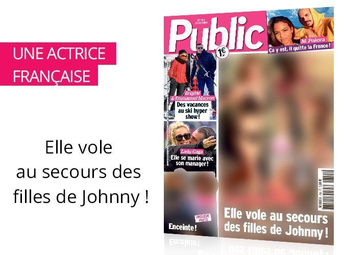 Magazine Public : Estelle Lefébure : elle vole au secours des filles de Johnny !