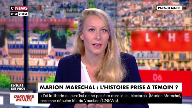 """Marion Maréchal fracasse Omar Sy en direct : """"À part dire merci, je ne sais pas ce qu'il devrait dire d'autre !"""""""