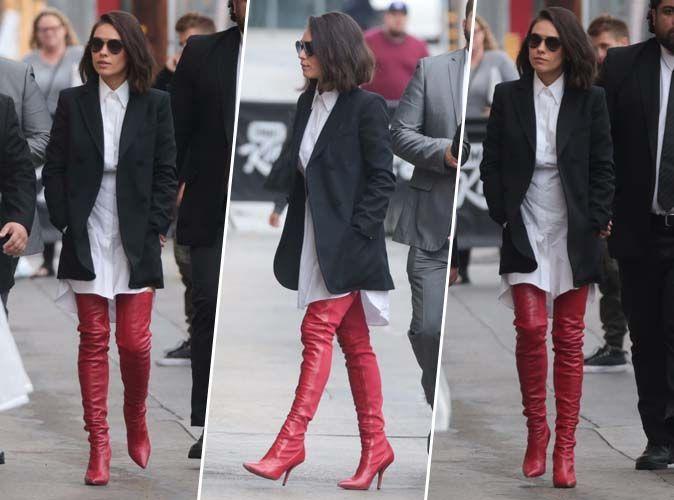 Mila Kunis : Comment porter les cuissardes rouges avec classe