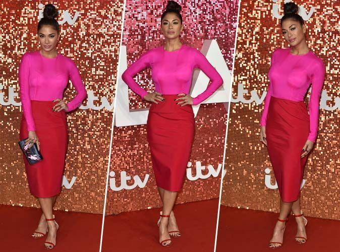 Nicole Scherzinger : Elle ose mixer le rose et le rouge... et c'est sublime !