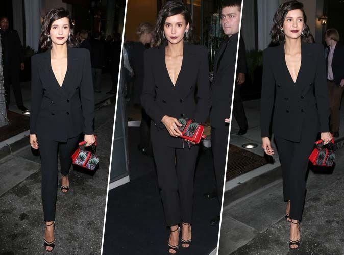 Nina Dobrev : On veut le même tailleur noir cintré !