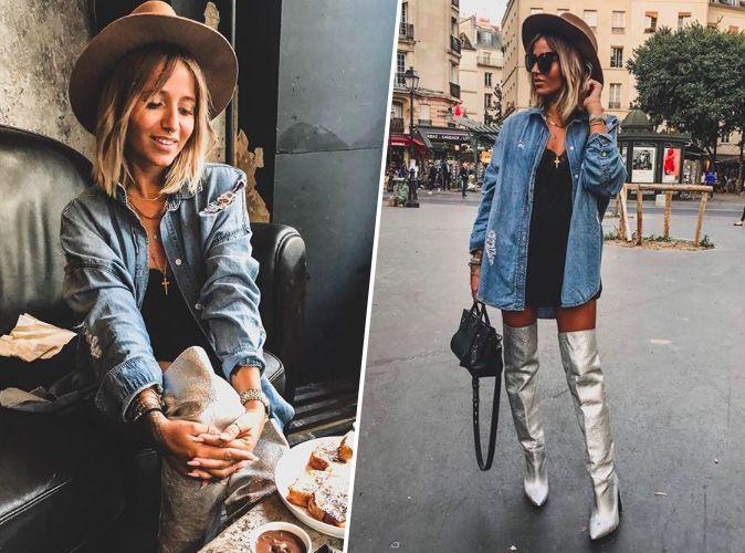 Noholita : la it-girl confirme que les cuissardes à talons argentées seront le must-have de la saison
