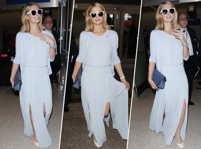 Paris Hilton : on craque totalement pour sa tenue bleue ciel !