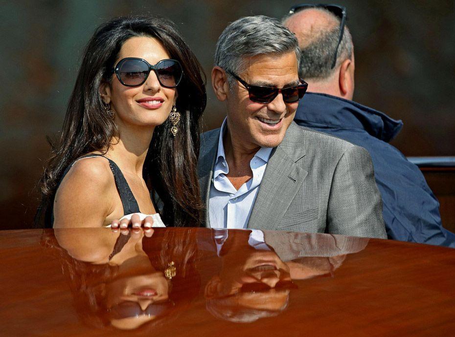 Photos   George Clooney et Amal Alamuddin   arrivée triomphale à Venise  pour leur mariage ! 6ab4ad8b7377