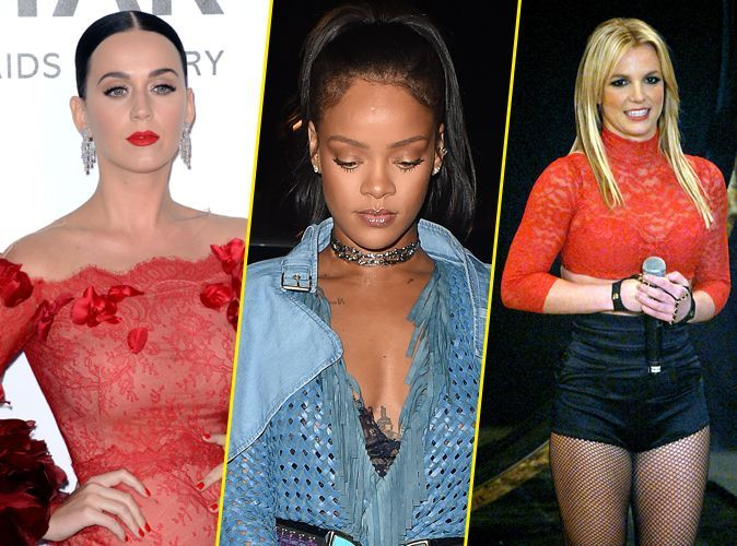 65d3795456c0 Photos   Katy Perry, Rihanna, Britney Spears   ces stars qui souffrent de  l. Beauté