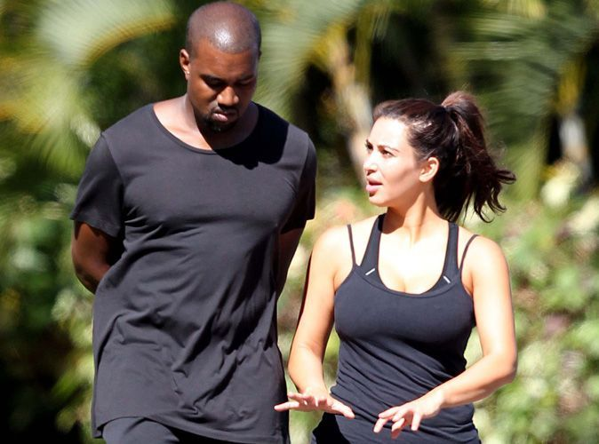 photos kim kardashian s ance de sport sans chichis avec kanye west. Black Bedroom Furniture Sets. Home Design Ideas