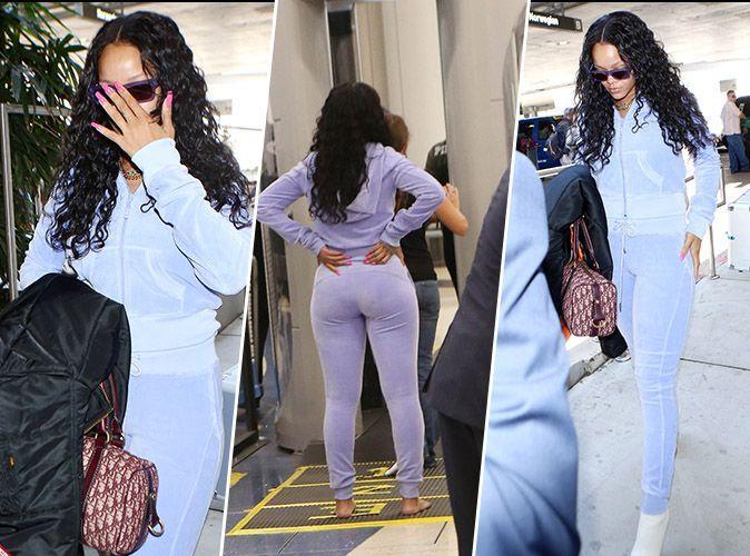 Photos rihanna en forme elle fait sensation l 39 a roport de los angeles - Rihanna poids taille ...