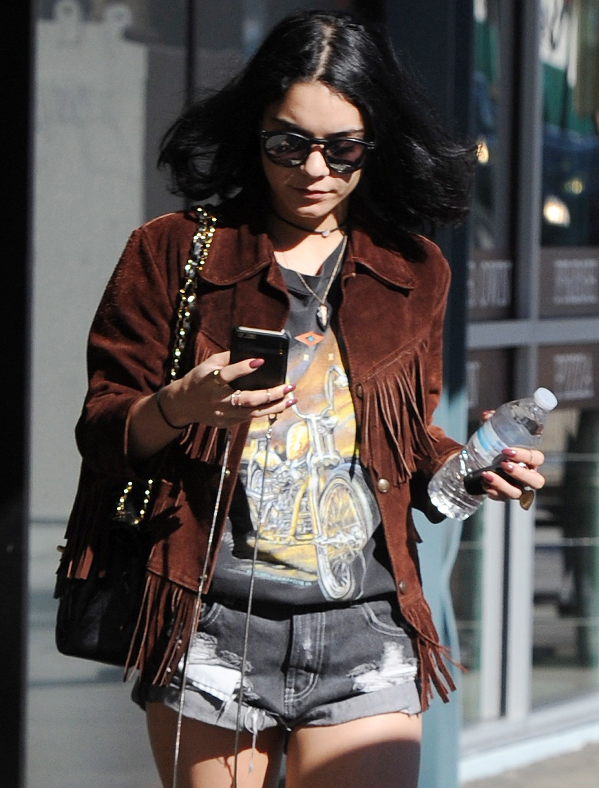 Vanessa hudgens leather shorts join