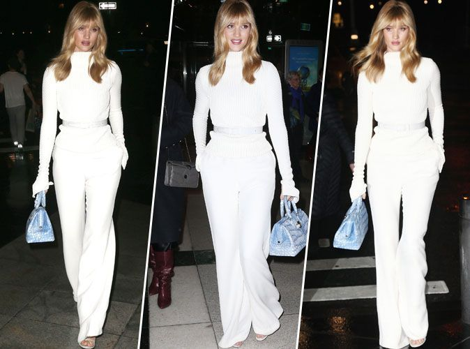 Rosie Huntington-Whiteley : total look blanc... On craque totalement !