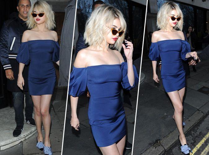 Selena Gomez : robe bleue nuit aux épaules dénudées... On craque !