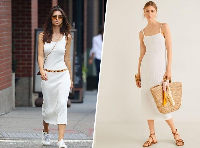 Shopping copie conforme  la robe Mango d\u0027Emily Ratajkowski