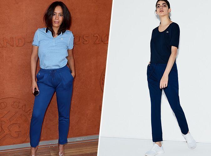 Shopping copie conforme : Le bas de jogging chic signé Lacoste d'Amel Bent