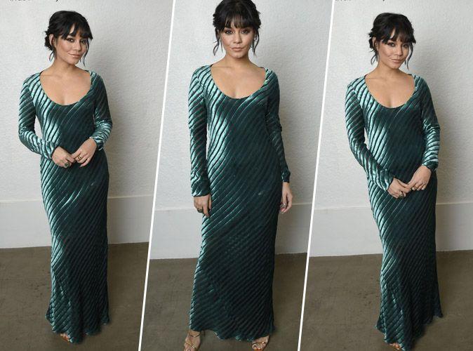 Vanessa Hudgens : Divine en longue robe verte et sandales à talons dorées