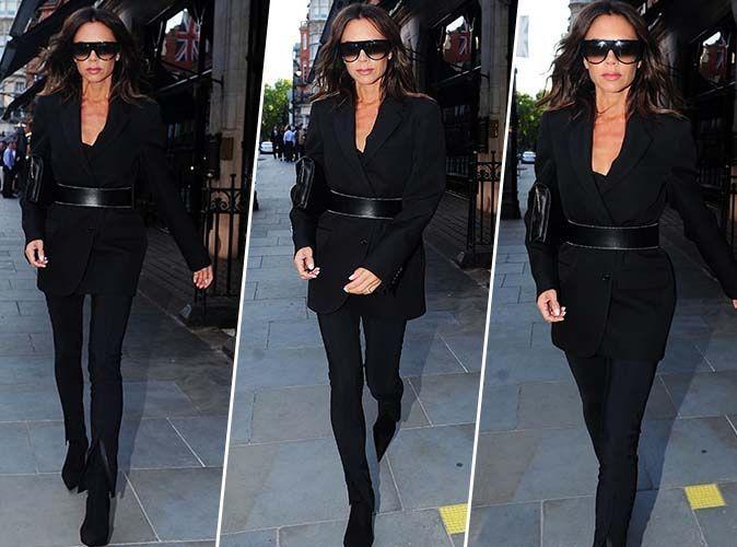 Victoria Beckham : Femme fatale en total look black !